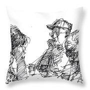 At Tim Hortons Throw Pillow