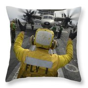 Aviation Boatswains Mate Directs An Throw Pillow