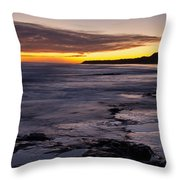 Bamburgh Castle At Sunrise Throw Pillow
