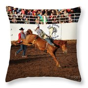Bareback  Throw Pillow