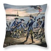 Battle Of Long Island, 1776 Throw Pillow