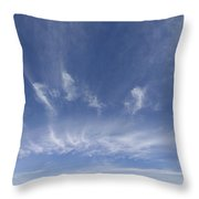 Big Blue Sky Throw Pillow