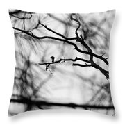 Bird In Tree Throw Pillow