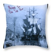 Blame It On The Rum Schooner Throw Pillow