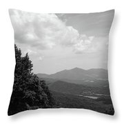 Blue Ridge Mountains - Virginia Bw 3 Throw Pillow