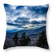 Blue Ridge Parkway Winter Scenes In February Throw Pillow