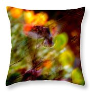 Bohemian Waxwing Throw Pillow