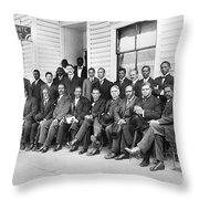 Booker T. Washington Throw Pillow