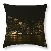 Boston Harbor  Throw Pillow