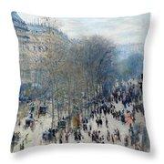 Boulevard Des Capucines Throw Pillow