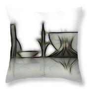 Brasilia Skyline Throw Pillow