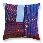 city of Boston Throw Pillow