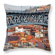 City Of Porto In Portugal Throw Pillow