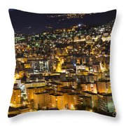 Cityscape At Night Throw Pillow