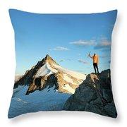 Climbing Cypress Peak Throw Pillow