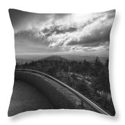 Clingmans Dome - Great Smoky Mountains National Park Throw Pillow