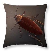 Cockroach Throw Pillow