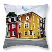 Colorful Houses In St. John's Newfoundland Throw Pillow