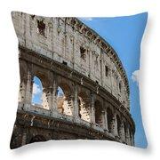 Colosseum - Rome Italy Throw Pillow