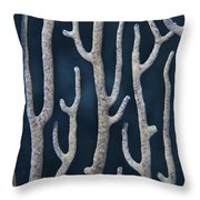 Coral Design Throw Pillow by Jean Noren