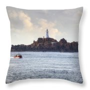 Corbiere Lighthouse - Jersey Throw Pillow