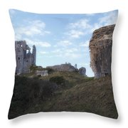 Corfe Castle Throw Pillow