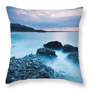 Blue Crete. Throw Pillow