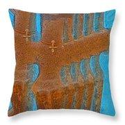 Cyprus Idol Of Pomos Throw Pillow by Augusta Stylianou