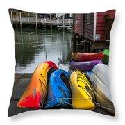 Water Adventure Awaits Throw Pillow