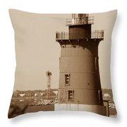 Delaware Breakwater Lighthouse Throw Pillow