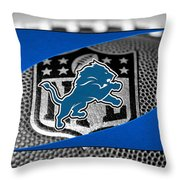 Detroit Lions Throw Pillow by Joe Hamilton