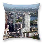 Downtown Austin Texas  Throw Pillow