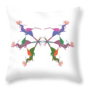 6 Dragons Breathing Fire Throw Pillow
