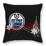 Edmonton Oilers Throw Pillow