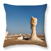 Egytians White Desert Throw Pillow