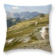 Engineer Pass In Colorado  Throw Pillow