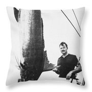 Ernest Hemingway (1899-1961) Throw Pillow