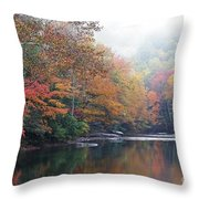 Fall Color Williams River Throw Pillow