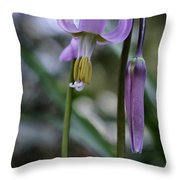 Fawn Lily Throw Pillow
