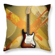 Fender Stratocaster Collection Throw Pillow