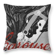 Fiery Stallion Throw Pillow by JAMART Photography