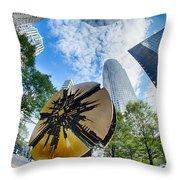 Financial Skyscraper Buildings In Charlotte North Carolina Usa Throw Pillow