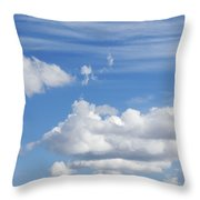 Fluffy Clouds Throw Pillow
