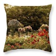 Garden Gazebo Throw Pillow