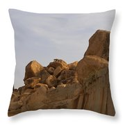 Hampi Landscape Throw Pillow