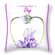 Happy Valentines Day Throw Pillow