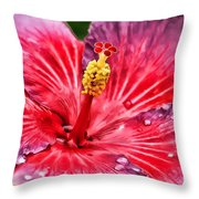 Hibiscus Throw Pillow