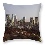 High Angle View Of A City Throw Pillow