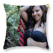 Hispanic Beauty Throw Pillow