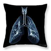 Human Lungs Throw Pillow